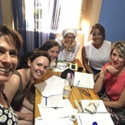 Square italian language school in sicily