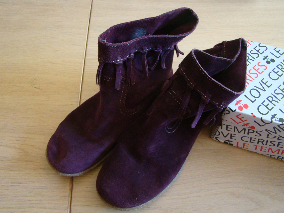 Bottines Kickers couleur prune TB état pointure 38 Annonce