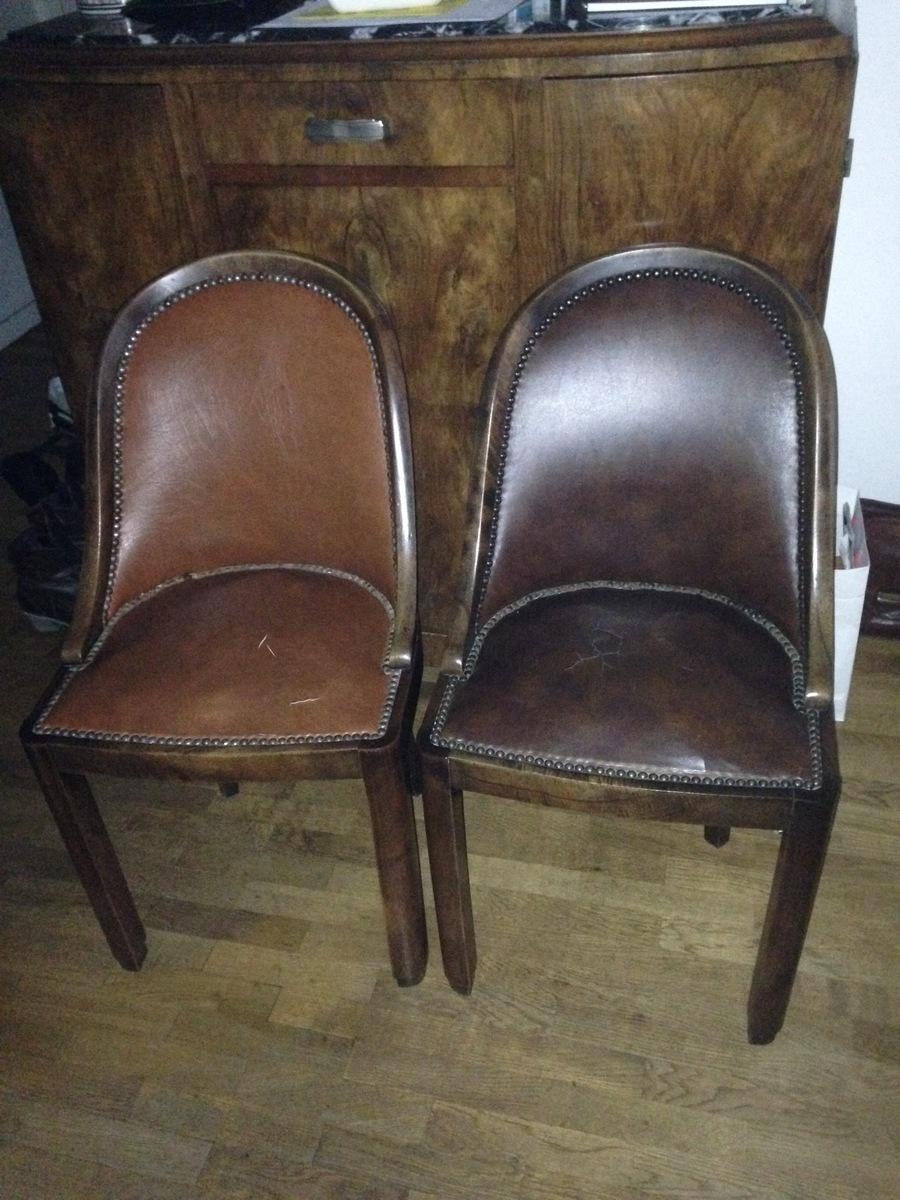 Chaise de salon style art d coration en bois de ronce de for Chaise salon bois